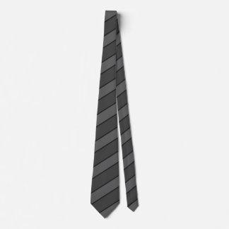 Basic Black Stripe Tie