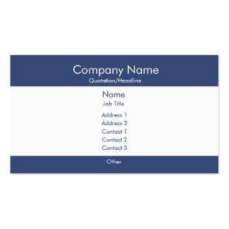 Basic Blue White Business Cards