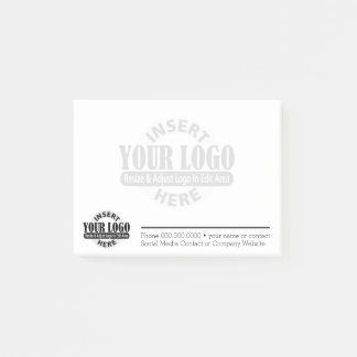 Basic Business Contact Info with Logo WATERMARK Post-it Notes