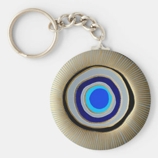 Basic Button Key Chain/ Greek Evil Eye Key Ring