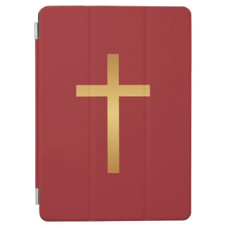 Basic Christian Cross Golden Ratio Gold Red iPad Air Cover