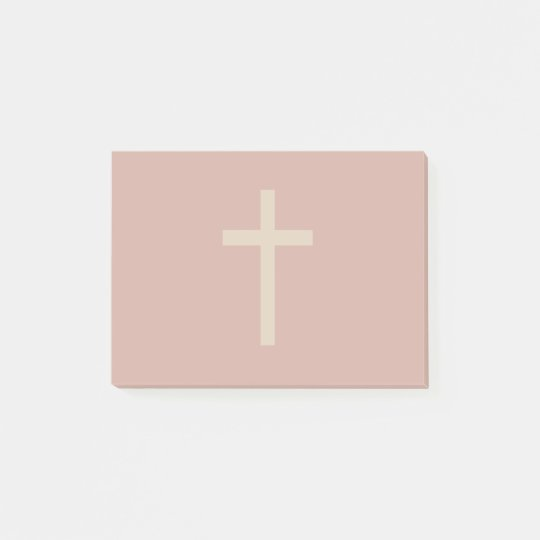 Basic Christian Cross Golden Ratio Rusty Brown Post-it