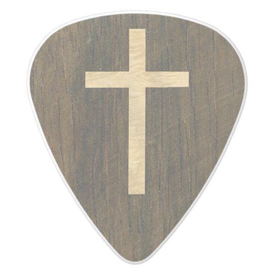 Basic Christian Cross Wooden Veneer Maple Rosewood White