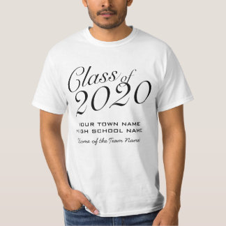 Basic Class of 2020 with School Name and Team Name Tee Shirts