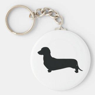 Basic Dachshund Basic Round Button Key Ring