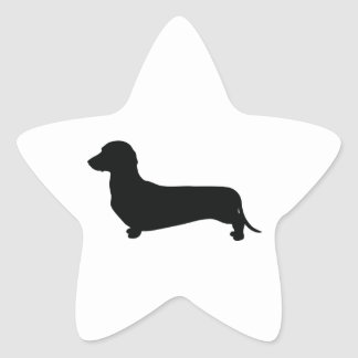 Basic Dachshund Star Sticker
