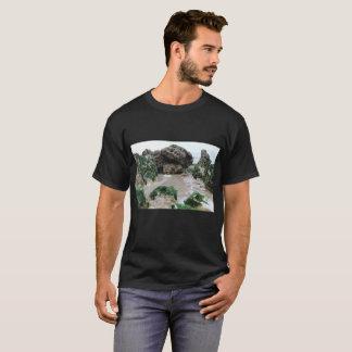 Basic dark tee-shirt for man, Beach T-Shirt