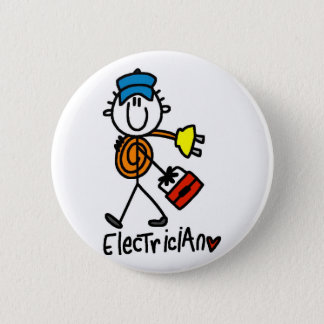 Basic Electrician Tshirts and Gifts 6 Cm Round Badge