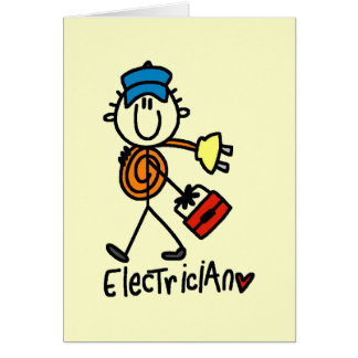 Basic Electrician Tshirts and Gifts Greeting Card