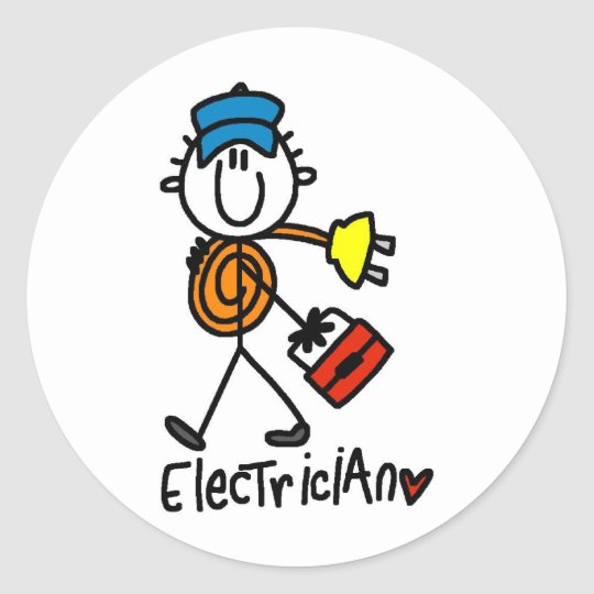Basic Electrician Tshirts and Gifts Classic Round Sticker