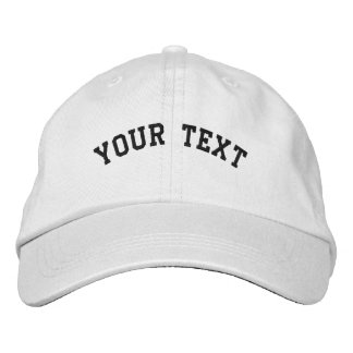 Basic Embroidered White Cap Template Embroidered Baseball Cap