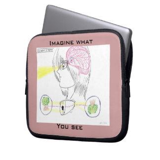 Basic Eye Sight Diagram Laptop Sleeve