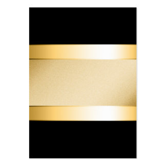Basic gold on black pack of chubby business cards