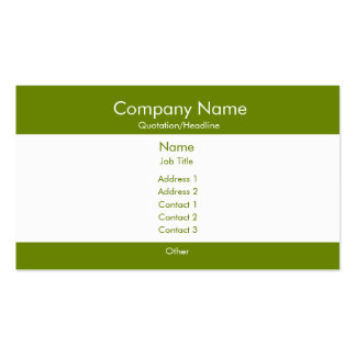 Basic Green & White Business Card Templates