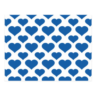 Basic Heart Dazzling Blue Postcard