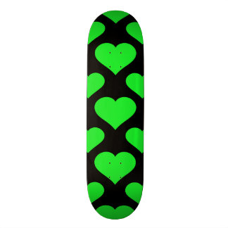 Basic Heart Pattern Green Skate Board