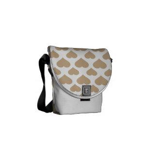 Basic Heart Sand Messenger Bags