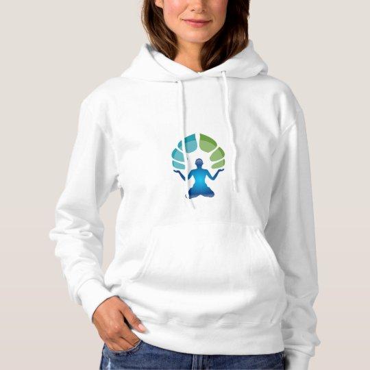 Basic Hooded Sweatshirt With Meditation Image