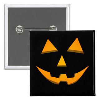Basic Jack-O-Lantern Black W/Orange Glow Buttons