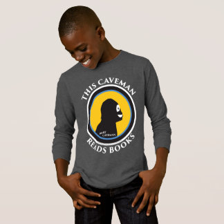 Basic Long Sleeve T-Shirt: Read Smart Caveman T-Shirt