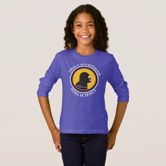 Basic Long Sleeve T-Shirt: Science Smart Cavewoman T-Shirt