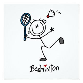 Basic Male Stick Figure Badminton Card