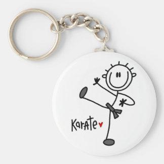 Basic Male Stick Figure Karate T-shirts and Gifts Basic Round Button Key Ring