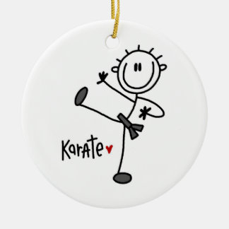 Basic Male Stick Figure Karate T-shirts and Gifts Christmas Ornament