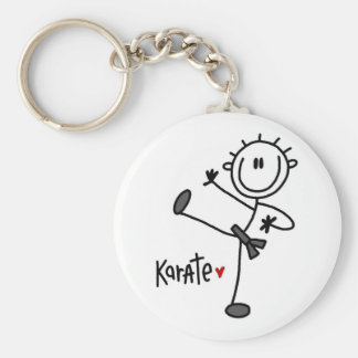 Basic Male Stick Figure Karate T-shirts and Gifts Key Ring