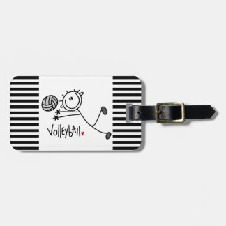 Basic Male Stick Figure Volleyball Luggage Tag