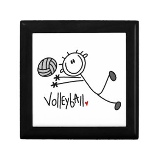 Basic Male Stick Figure Volleyball Small Square Gift Box