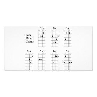 Basic Minor Chords Picture Card