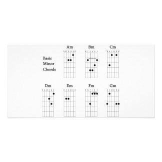 Basic Minor Chords Custom Photo Card