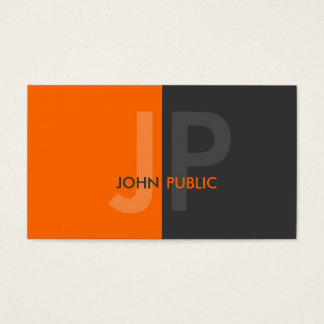 Basic Modern Two Color Monogram Business Card