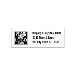 Basic Office or Business Address Label Self-inking Stamp
