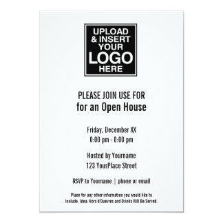 Basic Office or Business Logo 13 Cm X 18 Cm Invitation Card