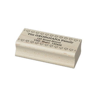 Basic Personalized Family Name & Address Rubber Stamp