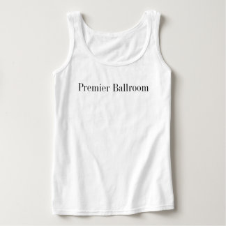 Basic Premier Ballroom Tank Top- White