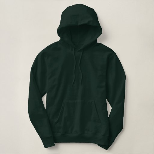Basic Pullover Hoodie Army Green Plain