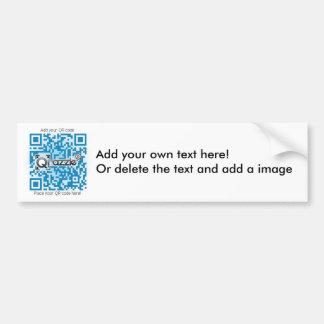 Basic QR code sticker Bumper Sticker