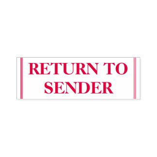 """Basic """"RETURN TO SENDER"""" Rubber Stamp"""