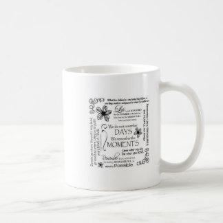 Basic Rub-ons Life Quotes Basic White Mug