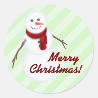 Basic Snowman Merry Christmas! Stickers