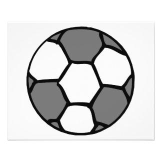 basic soccer ball graphic flyer design