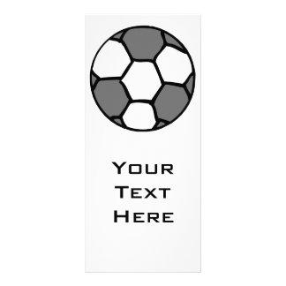 basic soccer ball graphic rack card design