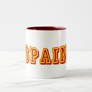 Basic Spain Logo Artwork Tees and gifts Two-Tone Mug