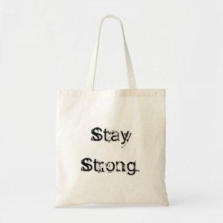 Basic Stay Strong bag. Budget Tote Bag