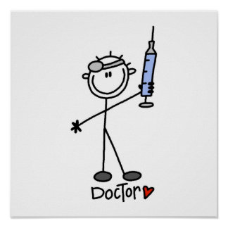 Basic Stick Figure Doctor Poster