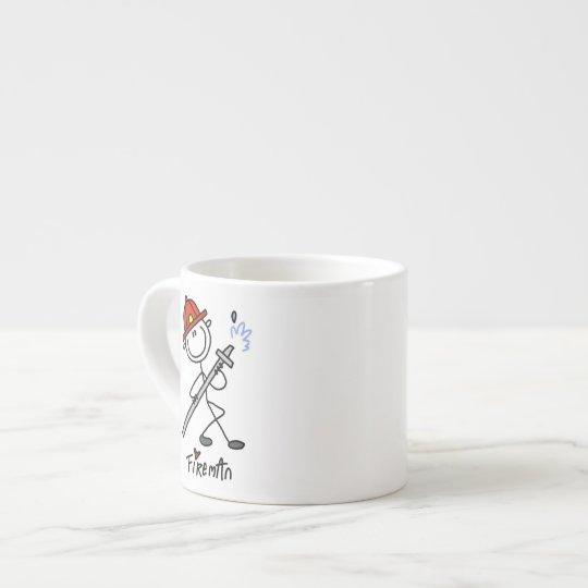 Basic Stick Figure Fireman T-shirts and Gifts Espresso
