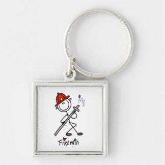 Basic Stick Figure Fireman T-shirts and Gifts Key Chains